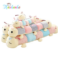 Caterpillar Plush Toy Long Pillow Sleeping Pillow Gift For Girl Free Shipping