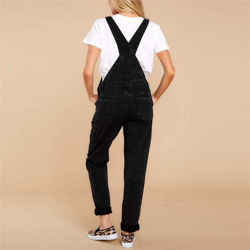 Women Sexy Denim Jeans Summer Fasihon New Autumn Bib Pants Hole Overalls Jeans Straps Demin Trousers Rompers #4F05 (8)