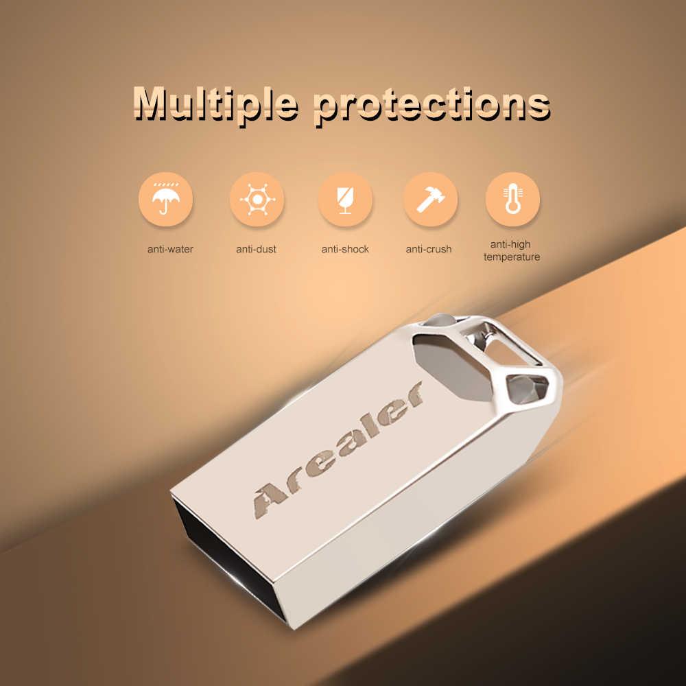 Arealer محرك فلاش usb USB3.0 البسيطة المحمولة U القرص 16GB 32GB 64GB Pendrives سيارة حملة القلم لأجهزة الكمبيوتر المحمول