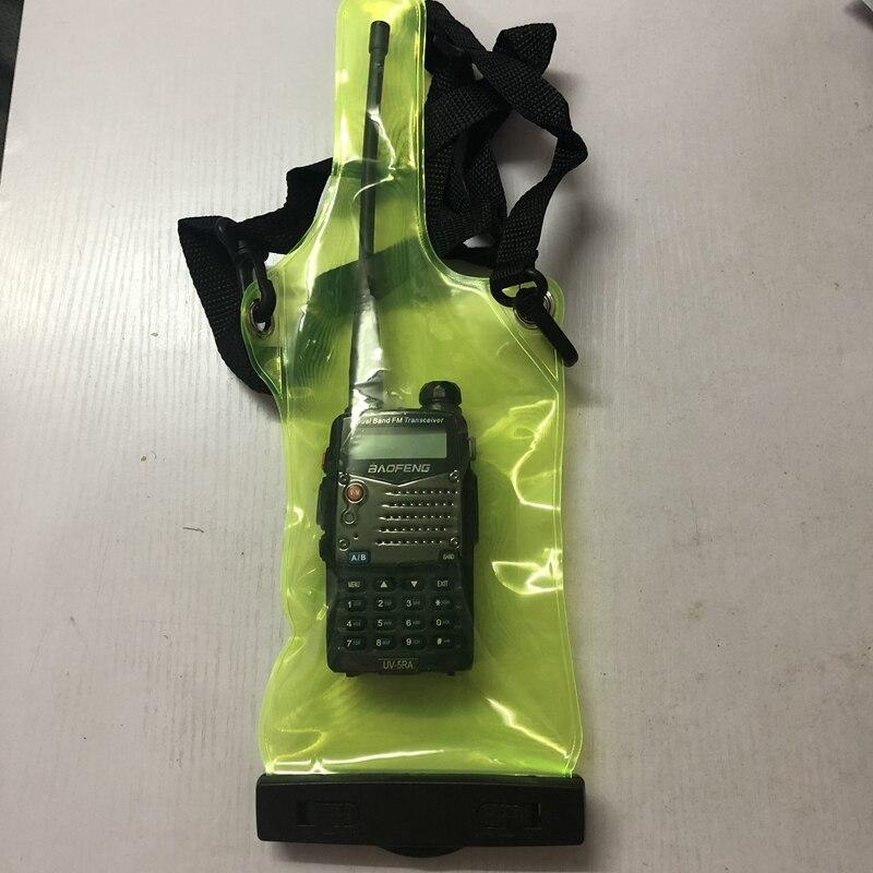 2 pièces bidirectionnel radio étanche sac étui pour Kenwood Baofeng UV 5R Quansheng Hyt TYT portable talkie walkie sacwalkie talkie caseradio waterproof bagwalkie talkie -