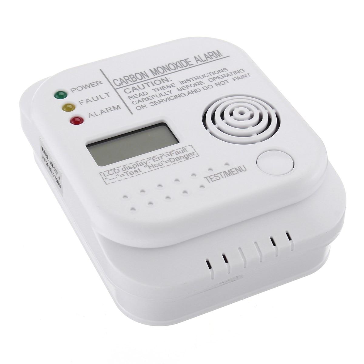 Nueva seguro co monóxido de carbono detector de alarma LCD digital home seguridad independiente tipo sensor Seguridad