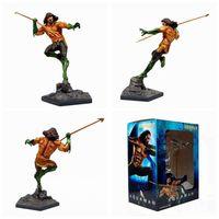 Anime 25CM Justice League Aquaman 1/10 Scale Statue Mergulhador Duel scene PVC Action Figures Collection Model Toys Model Gift