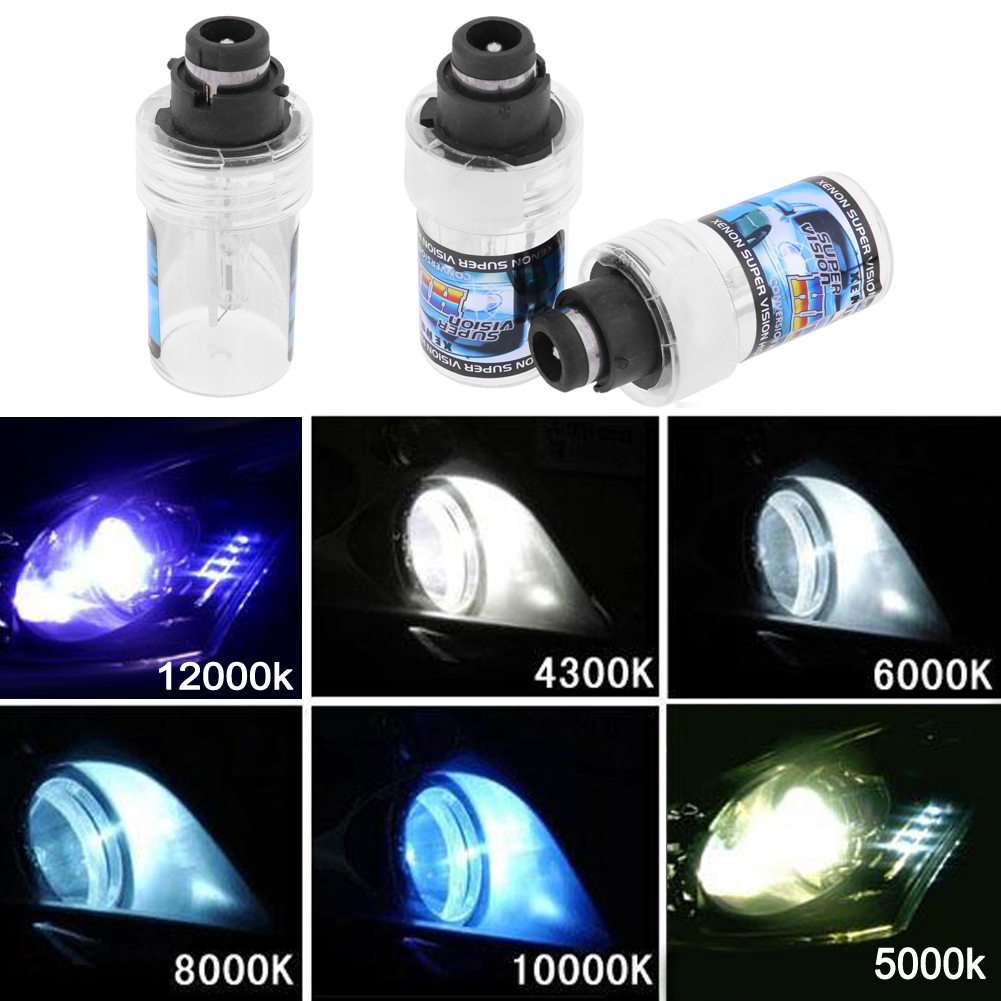 VODOOL 2pcs D2S 55W Car Headlight Replacement Bulbs 4300K 5000K 6000K 8000K 1000k 12000k Car HeadLight Lamp for All Car