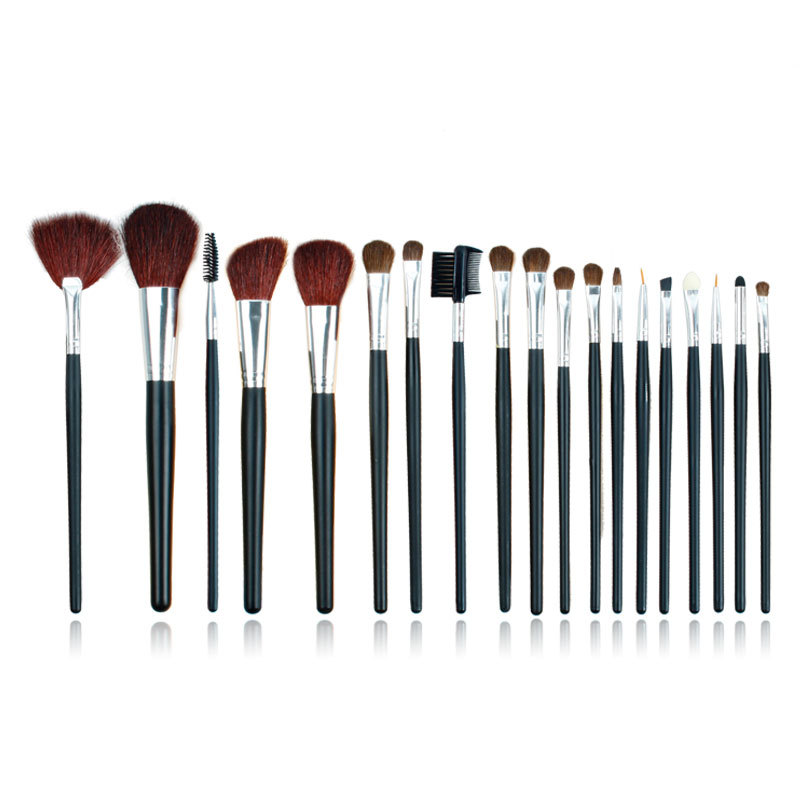 ISMINE 19pcs/Set Make up Brush Set Nylon Hair Green Yellow Makeup Brushes Powder Eyeshadow Make-up Brushes Kit with Leather Bag тушь make up factory make up factory ma120lwhdr04