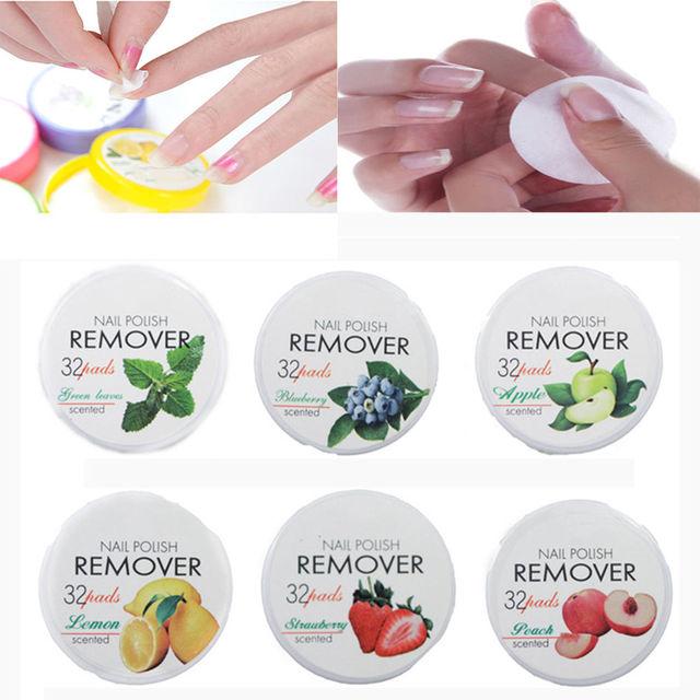Nail Tools Non Toxic Nail Polish Remover 32 Pads Fruit Polish ...