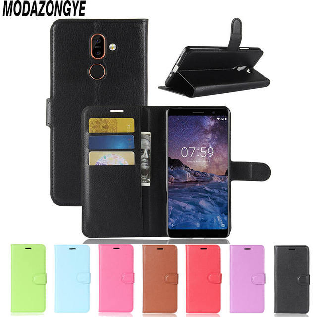 Nokia 7 Plus Case Nokia 7 Plus Cover Wallet PU Leather Cover Phone Case Nokia7 Plus TA-1046 TA-1055 TA-1051 TA-1072 Case Flip