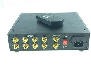 Image 2 - Streo リモートボリューム Conrol プリアンプと高音低音トーンコントローラ事前アンププリアンプハイファイオーディオ 4 で 1 アウトパワーアンプ