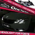 AKD Car Styling Head Lamp for KIA Forte Headlights LED Headlight DRL Daytime Running Light Bi-Xenon Lens HID Accessories