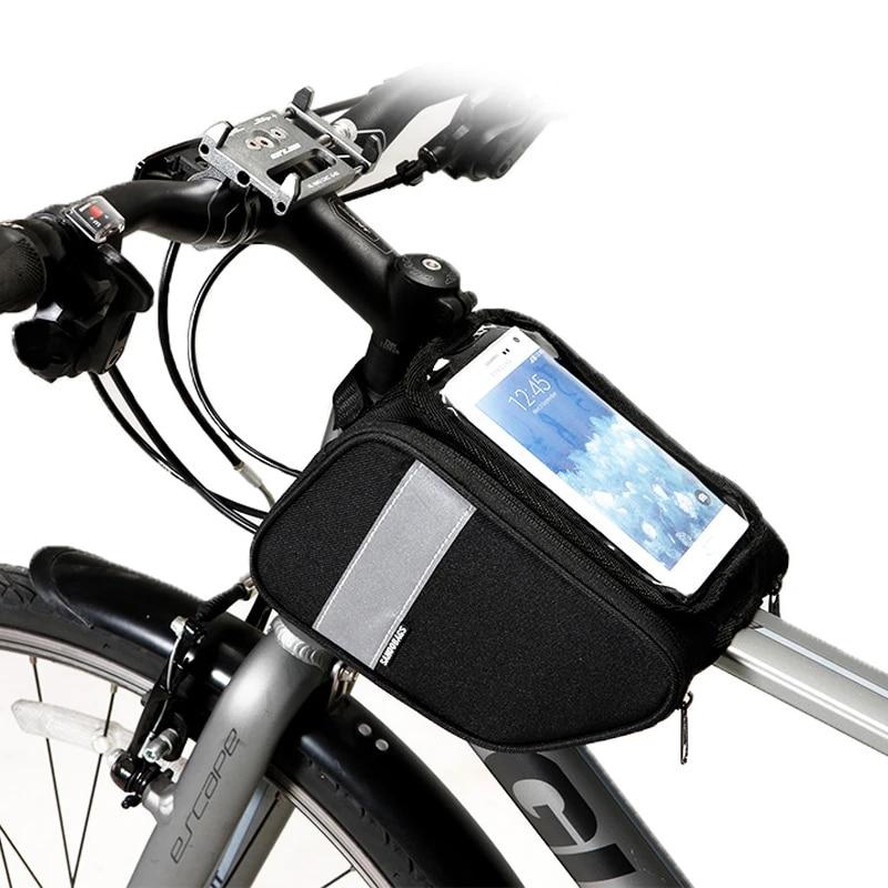 ROSWHEEL Bike Front Frame Bag,Cycling Top Tube,Phone Bag Bicycle Pouch,BIKE BAG