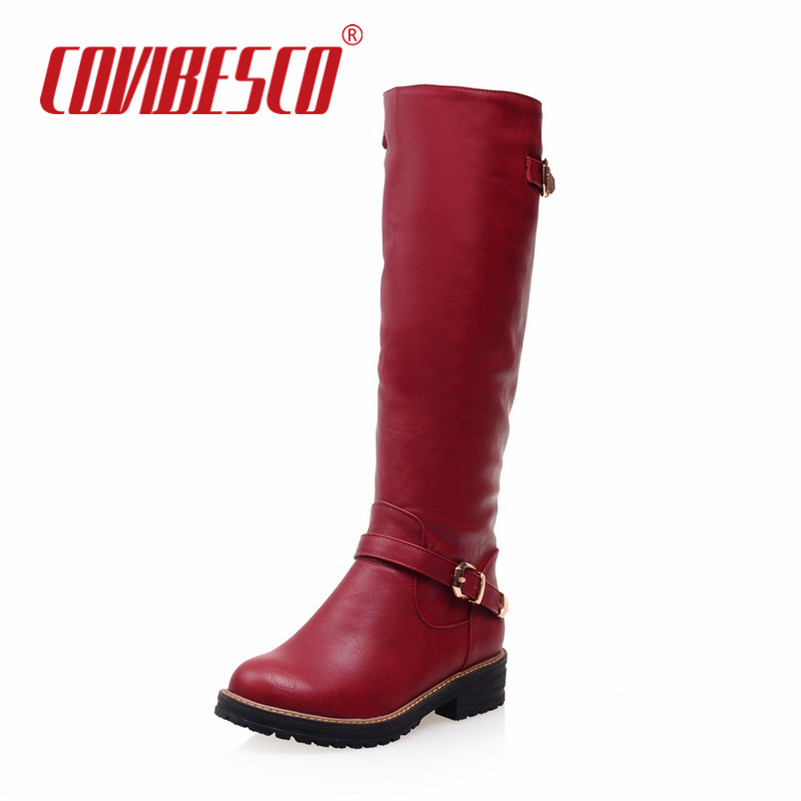Fashion Women Boot Knee High Boots New Fashion Round Toe Woman Spring Autumn Winter Motorcycle Boots High Shoes For Woman size 3 enmayla winter autumn round toe low heel knee high boots women flats lace up shoes woman rider brown black suede motorcycle boot
