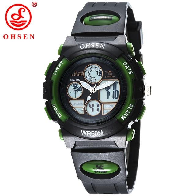 f4dd64b7472 Nova Marca de Moda OHSEN Digital de Quartzo Relógios De Pulso Crianças  Meninas 50 m Mergulho
