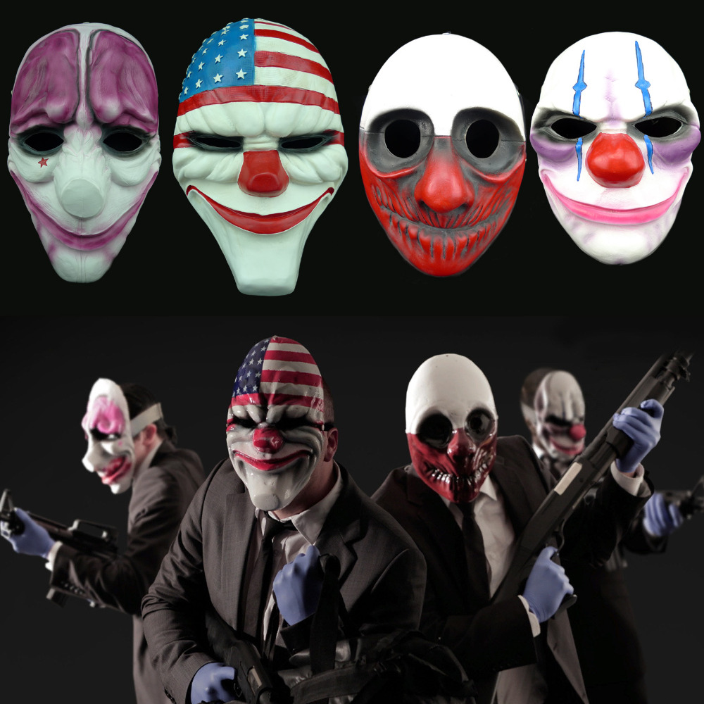 New Halloween Masquerade Collector's Edition Resin Mask Resin Cosplay Top Grade Resin Clown Värdefullt för Payday 2 Playgame Leksaker