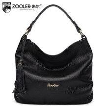 ZOOLER Genuine Leather Women Handbag Tassel Hobos Bag Ladies Fashion Luxury Handbags Women Bags Designer Messenger Shoulder Bag