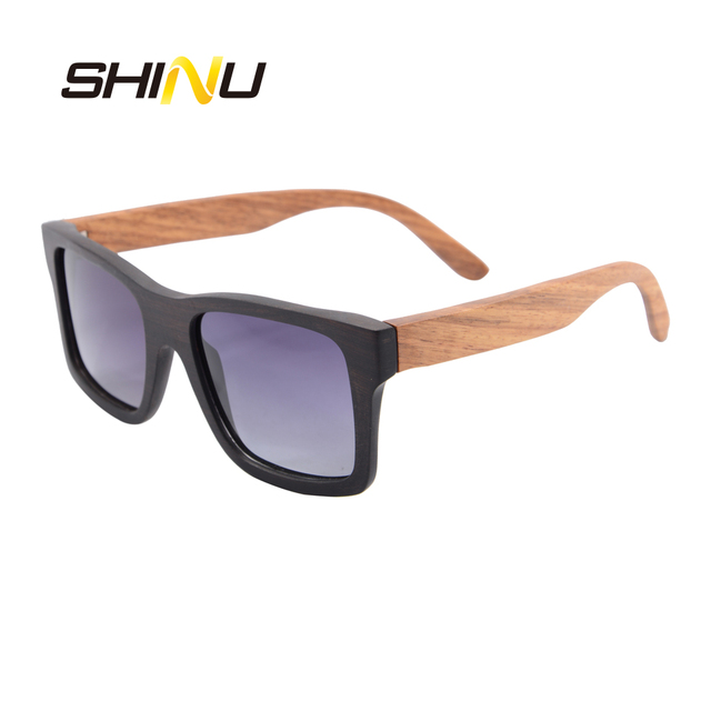 c83225e2d0 Men Wood Glasses Square Wooden Frame Polarized Sunglasses UV400 Driving  Touring Beach Goggle Eyewear Oculos De Sol Cool Shade