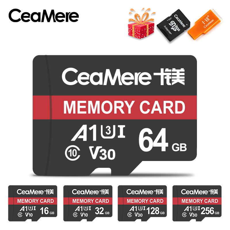 CeaMere Micro SD Card Class10 UHS-1 8GB Class 6 16GB/32GB U1 64GB/128GB/256GB U3 Memory Card Flash Memory Microsd For Smartphone