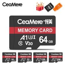 CeaMere Micro SD 카드 Class10 UHS 1 8GB Class 6 스마트 폰용 16GB/32GB U1 64GB/128GB/256GB U3 메모리 카드 플래시 메모리 Microsd