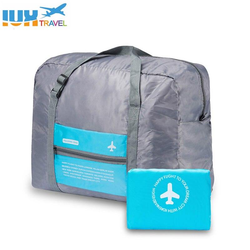 Waterproof Nylon Travel Bags Organizer Packing Cubes Women Men Large Capacity Folding Duffle Bag Luggage Girl Holiday Bag