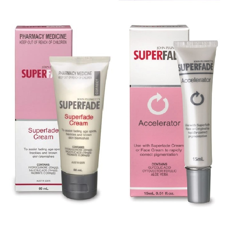 Australia Superfade Body Cream+Accelerator Hydroquinone Cream for Hand Foot Care Fading Age Spots Freckles Brown Skin Blemishes крем uriage hyseac 3 regul global skin care for oily skin with blemishes