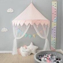 Скандинавская детская игровая палатка Розовая Принцесса игровой домик замок Типи Enfant Крытый открытый детский балдахин для детской кроватки кровать палатка Декор детской комнаты