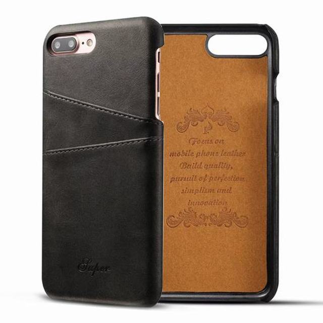 check out f560e 05956 US $4.99 |For Apple iPhone 8 Case Luxury Brand Leather With Card Cases  Mobile Phone Shell Coque For iPhone 8 Plus Fitted Cases Back Cover on ...