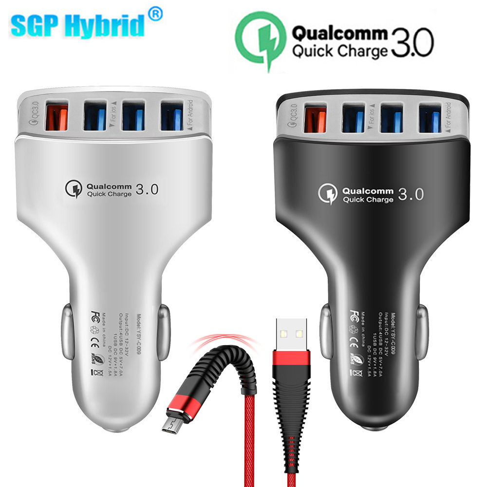 Car-Charger Usb-Ports Powerful Smart-Phone QC3.0 Android 4
