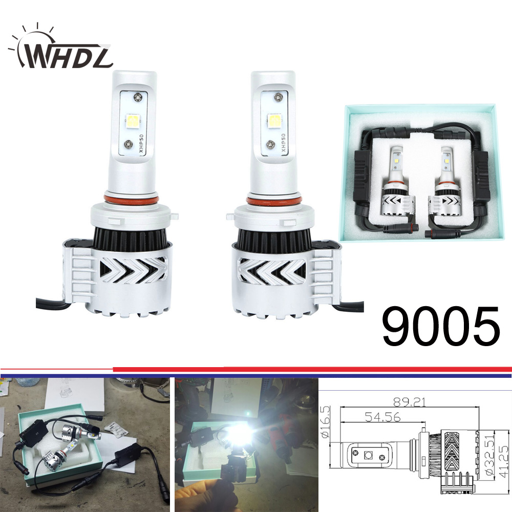 High power 8G XHP50 72W 36W Automobile LED Headlight with cree led chips 9005 HB3 LED Bulb Kit 6500K Car Truck Driving Lamp