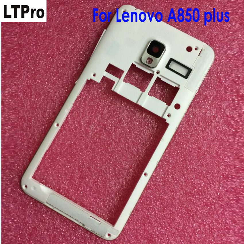 LTPro Best Quality Working White <font><b>A850</b></font>+ Bezel Middle Frame For <font><b>Lenovo</b></font> <font><b>A850</b></font> Plus <font><b>A850</b></font>+ Front <font><b>LCD</b></font> Housing Cell Phone Parts image