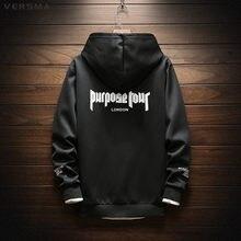 540594ed VERSMA 2018 Autumn Justin Bieber Purpose Tour Oversized Hoodie Sweatshirt  Men High Street Hip Hop Instagram