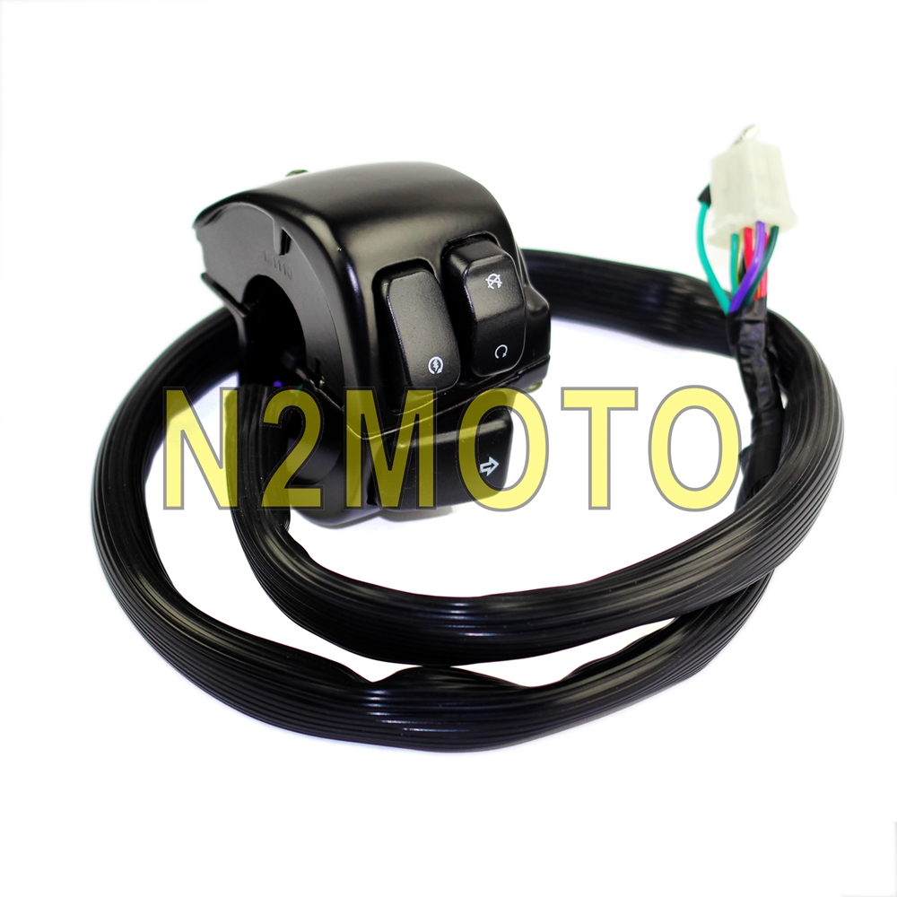 V Rod Wire Harness Wiring Library Harley Davidson Rear Fender Motorcycle 1 Handlebar Control Switches For Softail Dyna Sportster Black
