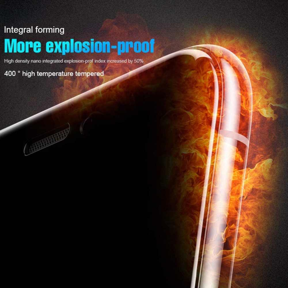 زجاج واقي 5D لهاتف آيفون 7 6 6s 8 Plus من الزجاج المقسى لهاتف آيفون 11 برو Xr X Xs Max واقي شاشة لهاتف آيفون SE 2 الزجاجي