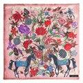 Nuevo de Lujo Engrosamiento de la Cachemira Suave Mantón Floral Impresión Caballo Cuadrado Pashmina Jacquard Bufandas Fulares Cover-ups