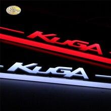 SNCN LED عتبة الباب لسيارة Ford Kuga ، ملحق دواسة الباب المتحرك