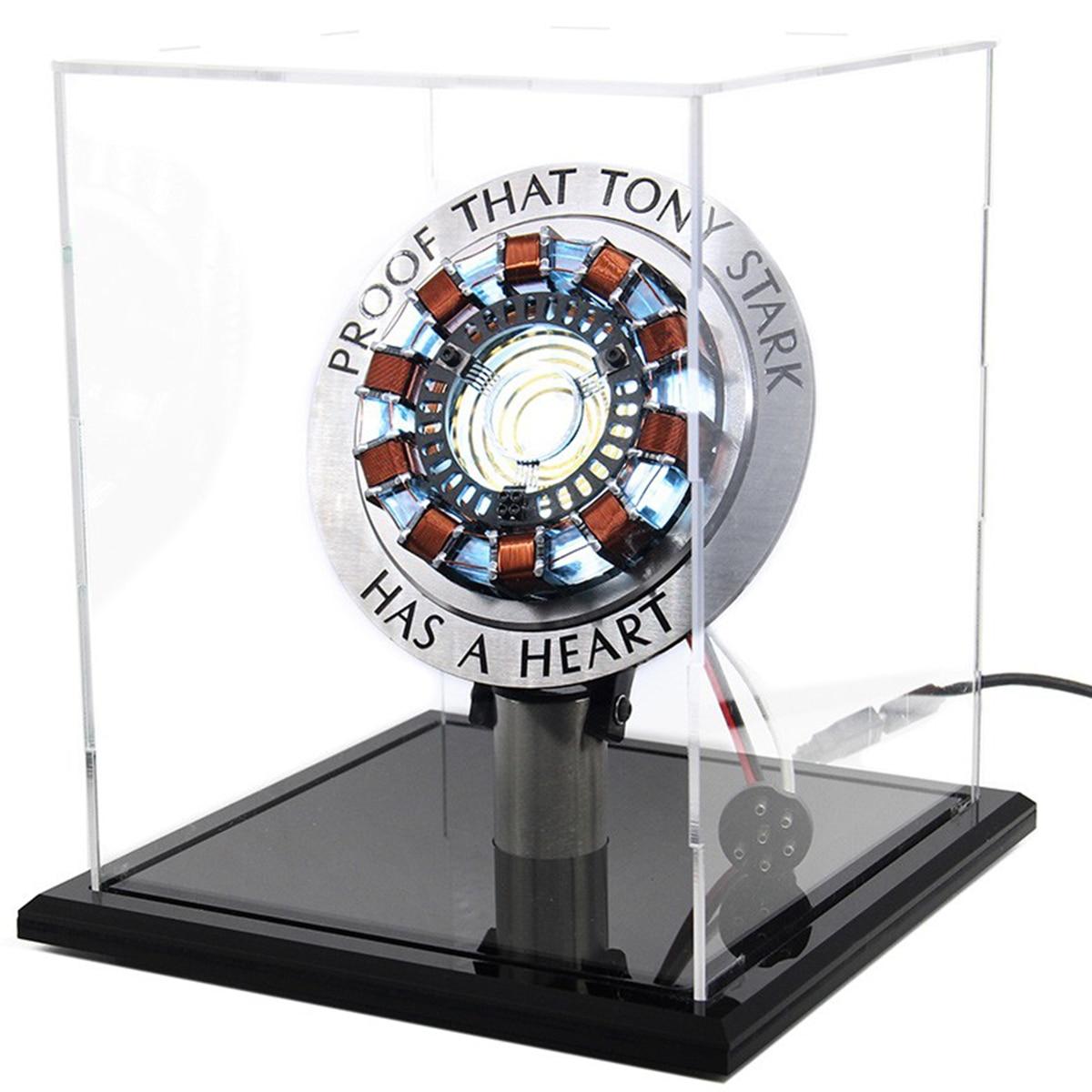 Model-Kit Movie-Props Arc-Reactor DIY Heart Light-Powered LED Chest USB Men
