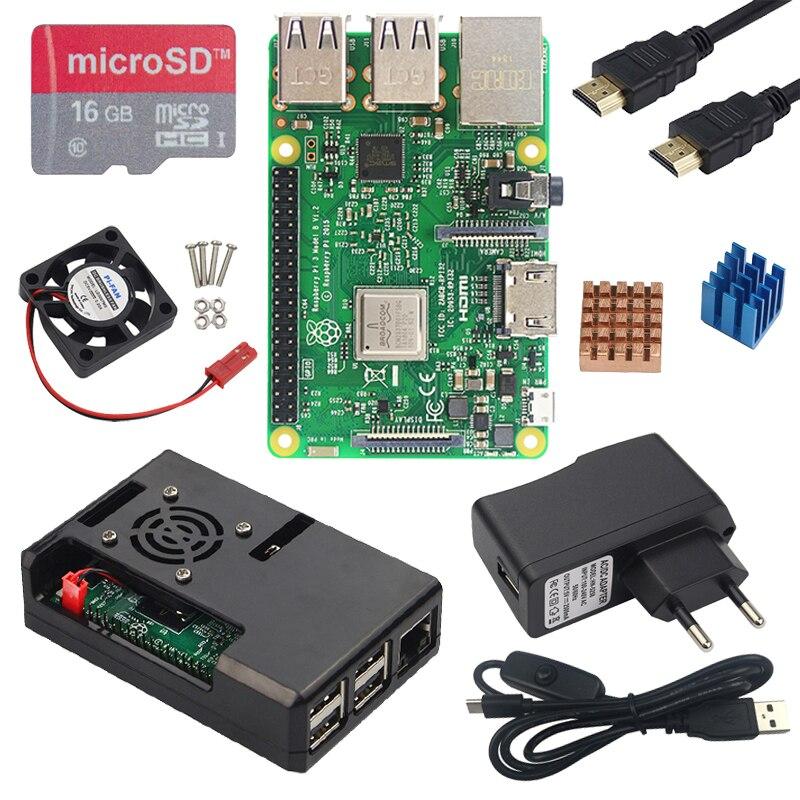 Original Raspberry Pi 3 B or Raspberry Pi 3B Plus Board with Built in WiFi Bluetooth