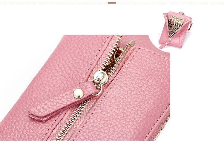 Women genuine leather key wallet 11