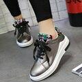 2017 Новые Весна Лето Женщины Мода Повседневная Обувь Ladies Девушки Стильный Подросток Прогулки Открытый Обувь Тренер Zapatos G544