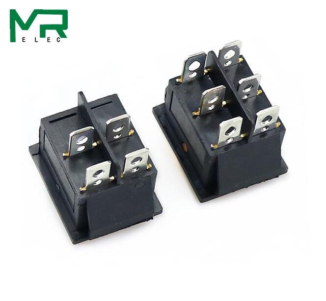 KCD4 кулисный переключатель ВКЛ-ВЫКЛ 2 положения 4 контакта/6 контактов электрооборудование с светильник выключатель питания 16A 250VAC/20A 125VAC