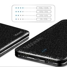 Power Bank 5000mAh Ultra tenká univerzálna externá batéria výstup 2.1A vzor mozaika