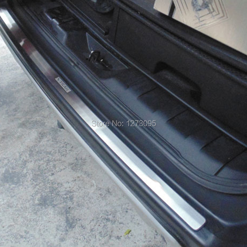 ФОТО For 2008-2012 2013 Nissan X-Trail XTrai T31 Stainless Steel Exterior Rear Bumper Protector Sill Trunk Guard Pedal Car Accessory