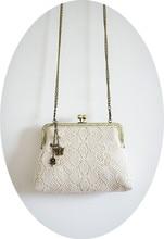 Angelatracy 2019 New Arrival Handmade Vintage Lace Beige Hollow Out Flower Metal Shoulder Messenger Bag Crossbody Bag Flap недорого