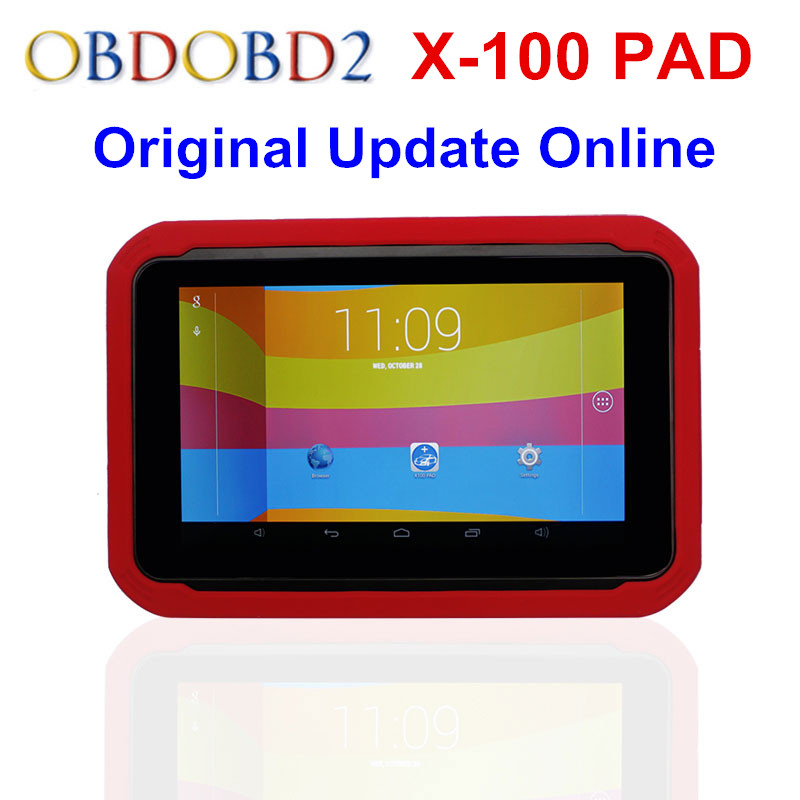 Newest XTOOL X100 PAD X 100 Auto Car Key Programmer With Oil Rest Tool And Odometer Adjustment X-100 PAD 100% Original DHL Free цена