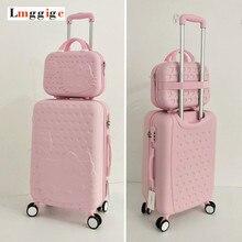 Hello Kitty Luggage bag,Children Women Suitcase set,ABS Cartoon Travel Box,Rolling Trolley Hardcase bag ,20″22″24″26″28″inch