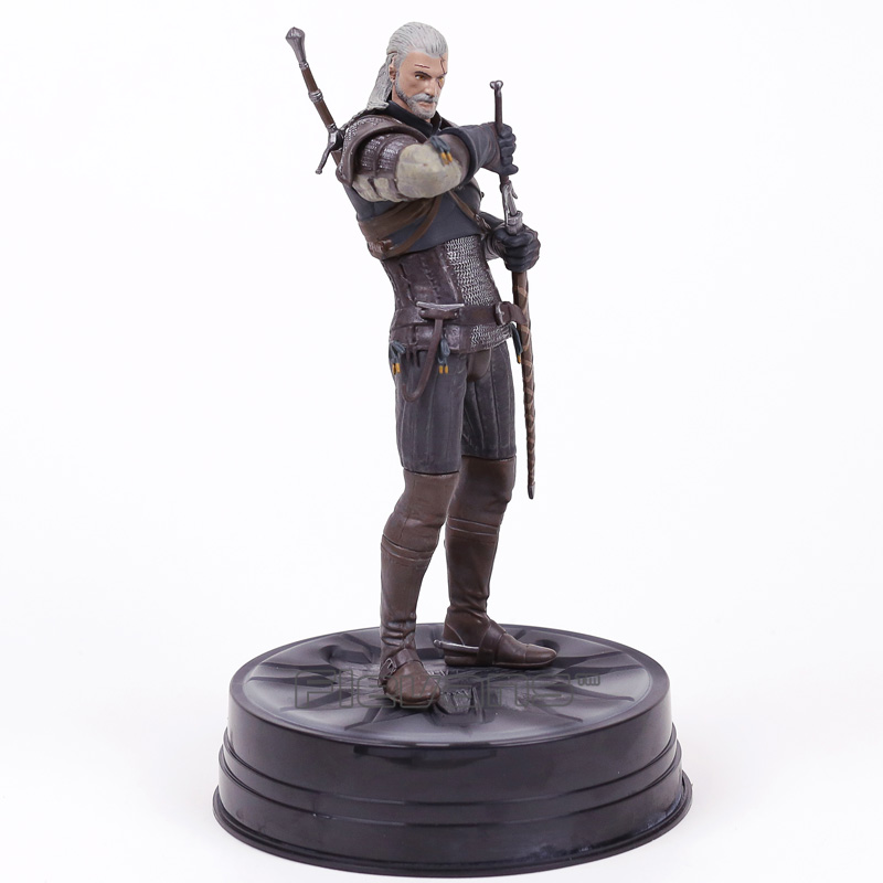 The Witcher 3 Wild Hunt Geralt of Rivia Statue PVC Figure Collectible Model  Toy 24cm