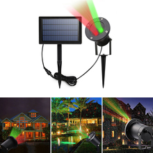 Binval Outdoor Solar Laser Light 2led Red&Green Ambiance Projector Lawn Lamp Spotlights Lighting For Garden Party Decor