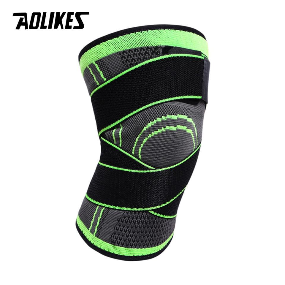 AOLIKES 1PCS 3D Weaving Pressurization Knee Brace 4