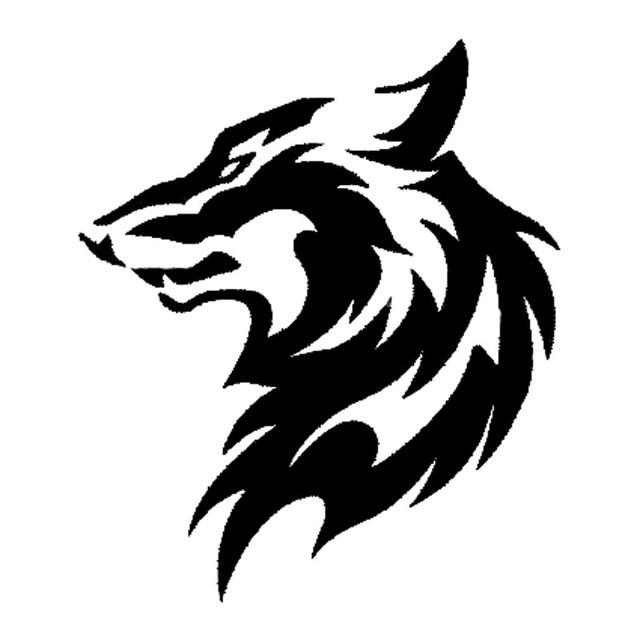 11 5 13 3cm tribal car styling wolf head pattern car sticker