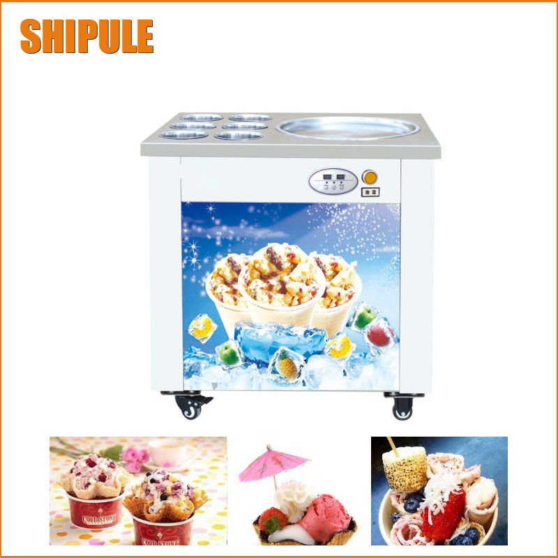 SHIPULE fried ice cream machine roll machine ice cream maker shipule fried ice cream machine roll machine ice cream maker