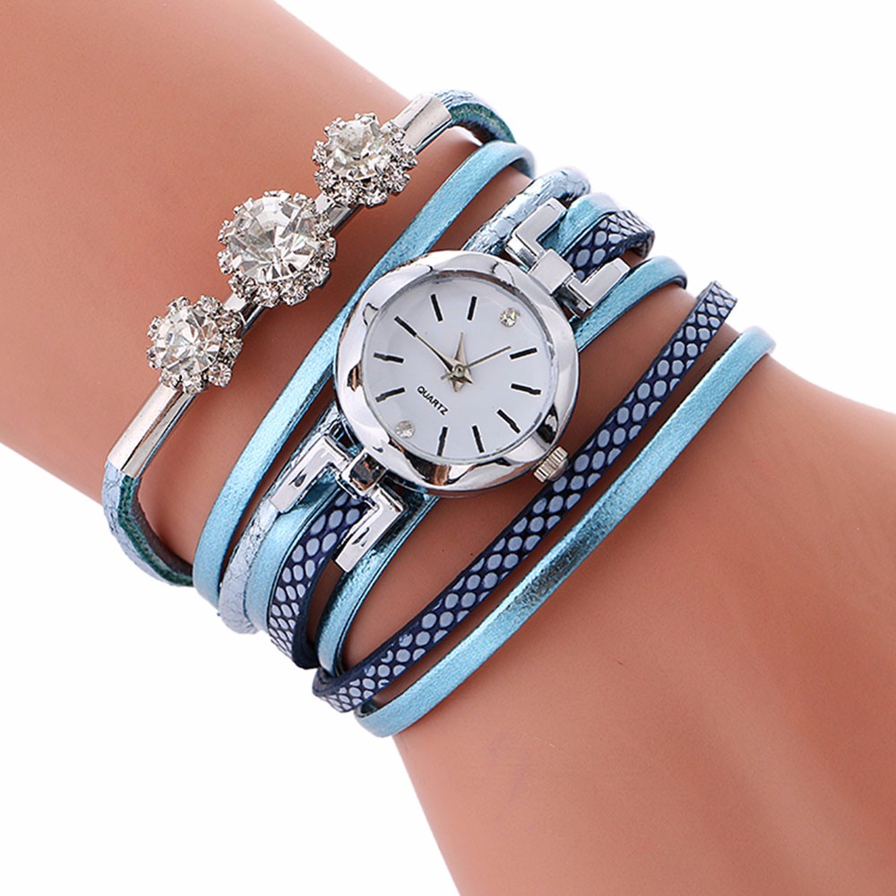 Top Brand Fashion Ladies Watches Leather Bracelet Diamond Circle Watch Women Thin Casual Strap Watch Reloj Mujer Gifts Dropship
