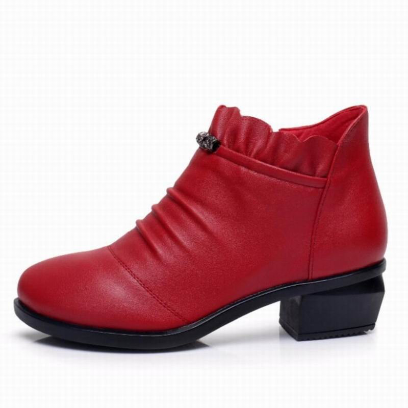 GKTINOO Fashion Women Boots Autumn Boots Genuine Leather Ankle Boots 2019 Winter Warm Fur Plush Women Shoes Big Size 43 in Ankle Boots from Shoes