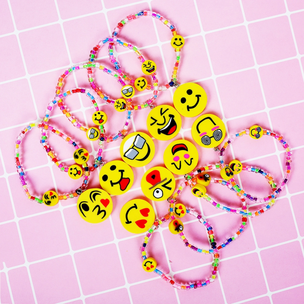 1 PC Baby Childrens Cute Soft Bracelets Emoji Wristband Jewelry Gift New